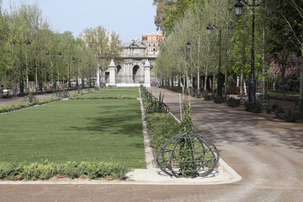 OBRAS DE RESTAURACIÓN AL PASEO DE MÉXICO DEL RETIRO (Madrid)